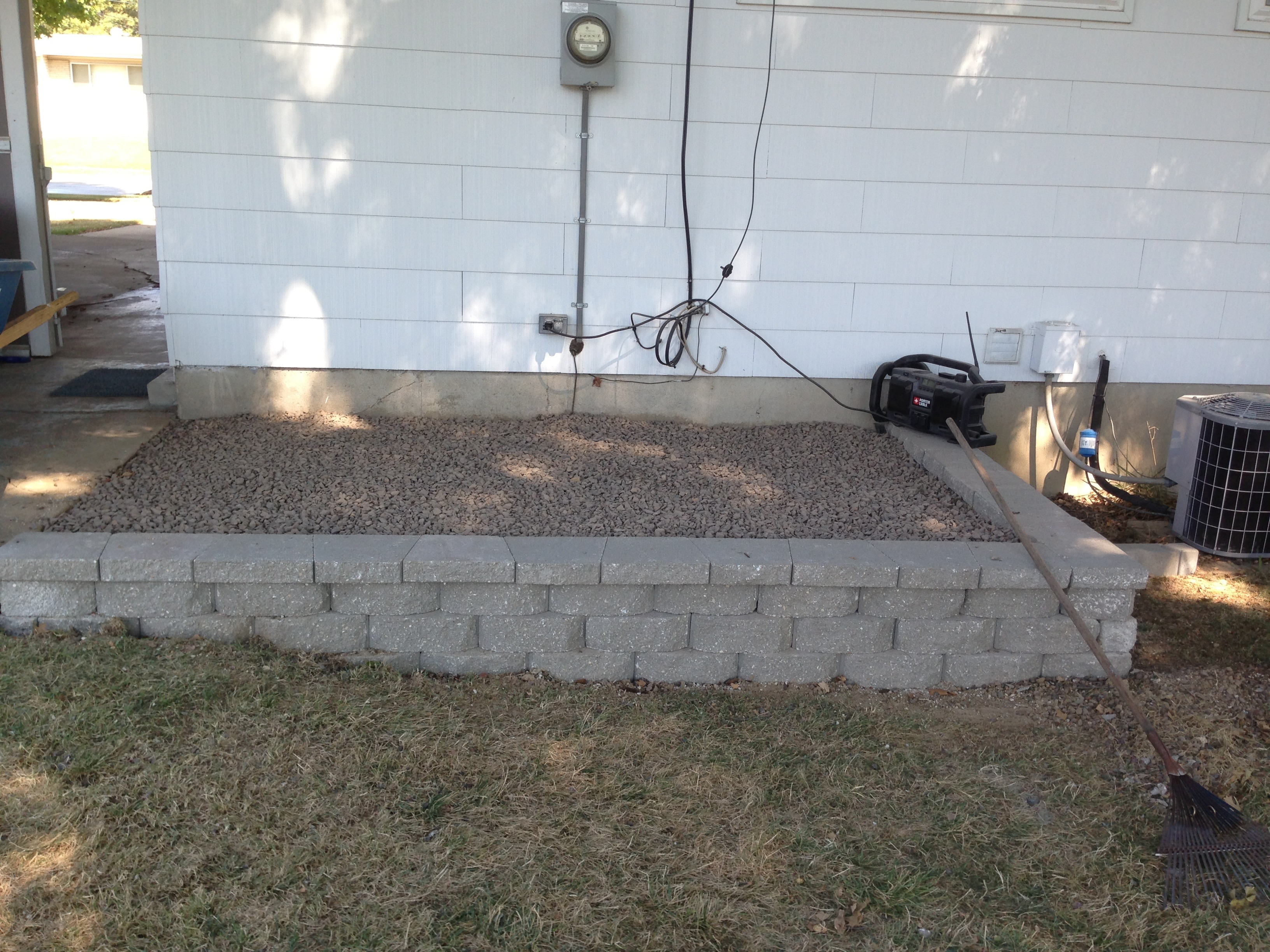 Small Flower Bed Retaining Wall Partell S Lawn And Landscape